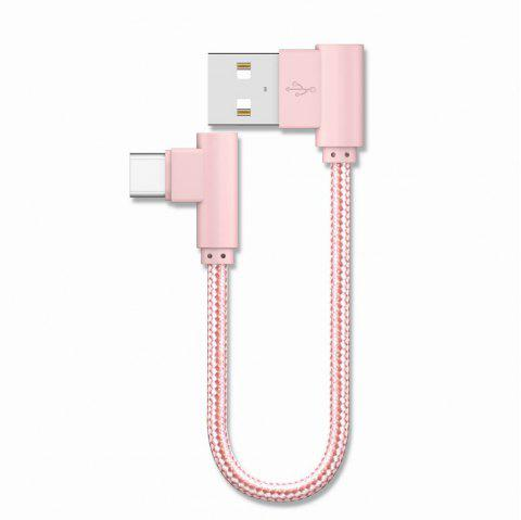 20CM Type-C Charge for Samsung S8 Plus Xiaomi 90 Degree Cable Oneplus 5t Huawei - PINK