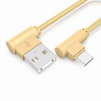 20CM Type-C Charge for Samsung S8 Plus Xiaomi 90 Degree Cable Oneplus 5t Huawei - GOLDEN