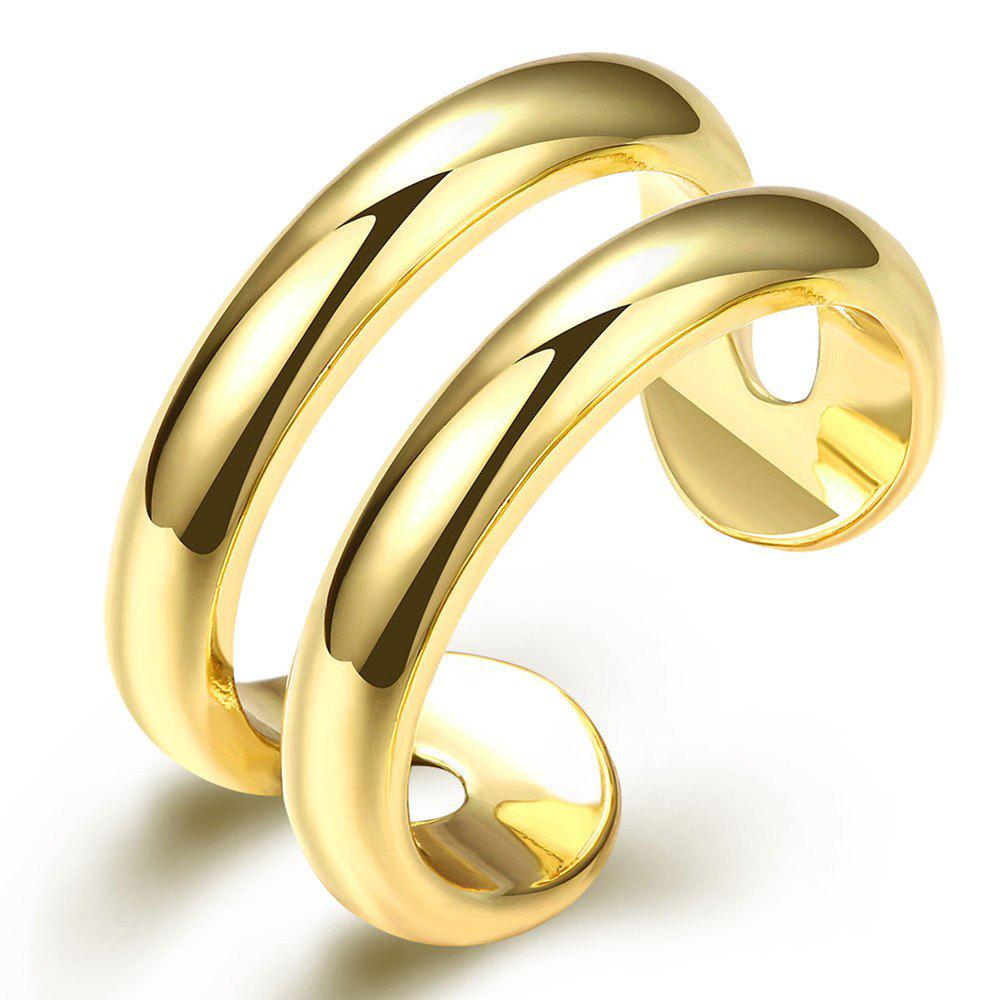 Fashion Adjustable Gold Plated Ring Charm Jewelry Gift for Women - GOLDEN ONE-SIZE