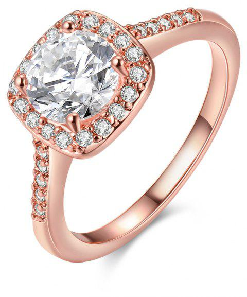 Mode élégante Zircon Ring charme bijoux - Or de Rose 7