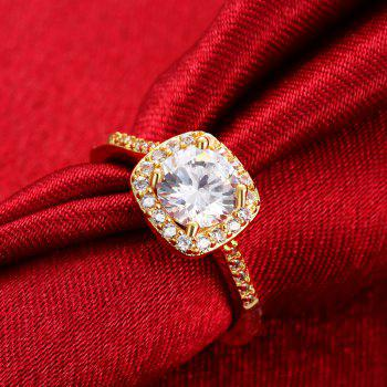 Fashion Elegant Zircon Ring Charm Jewelry - GOLDEN 7