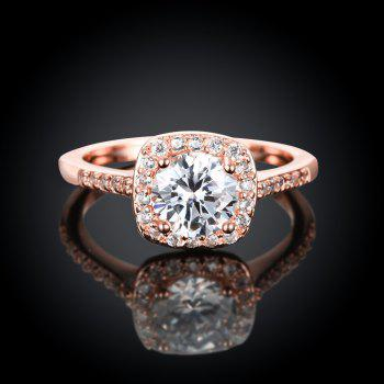 Fashion Elegant Zircon Ring Charm Jewelry - ROSE GOLD 6