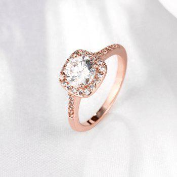 Mode élégante Zircon Ring charme bijoux - Or Rose 7