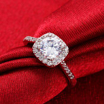 Fashion Elegant Zircon Ring Charm Jewelry - TRANSPARENT 6