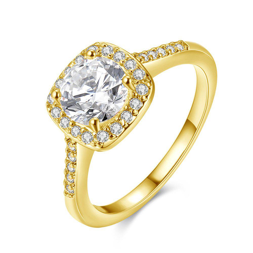 Fashion Elegant Zircon Ring Charm Jewelry - GOLDEN 6