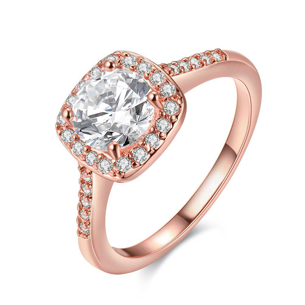 Fashion Elegant Zircon Ring Charm Jewelry - ROSE GOLD 7
