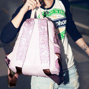 Fashionable New Style Of Double-shouldered Bright Piece  Female Bag - PINK