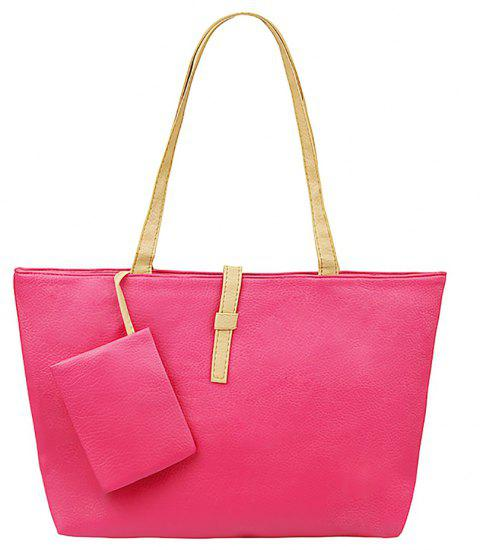 New Leisure Single Shoulder Bag - ROSE RED