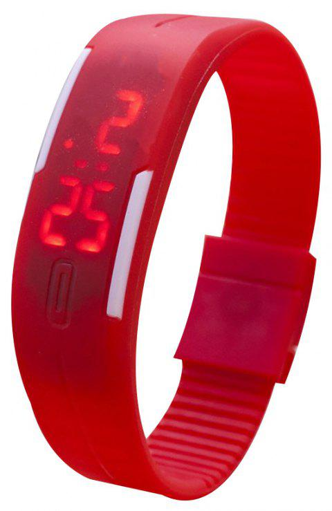 Universal Waterproof LED Sports Watch - RED