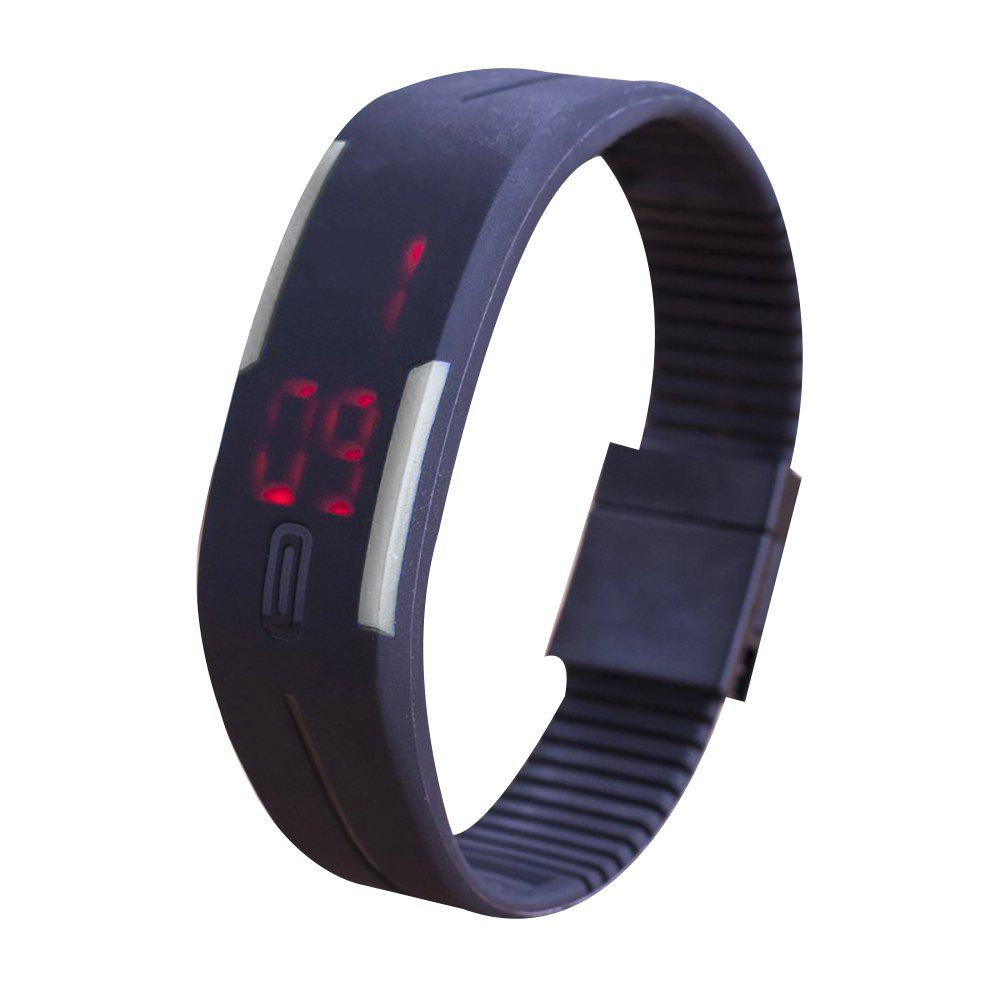 Universal Waterproof LED Sports Watch - BLACK