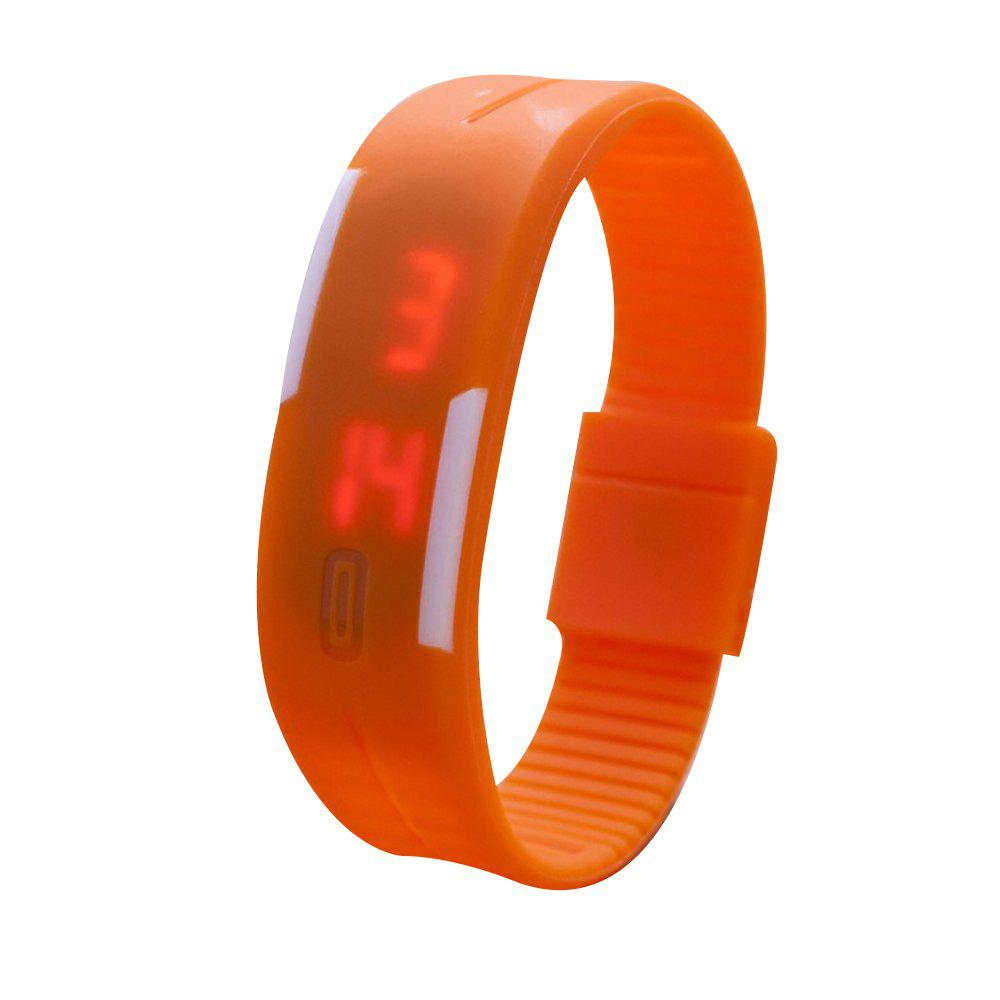 Universal Waterproof LED Sports Watch - ORANGE