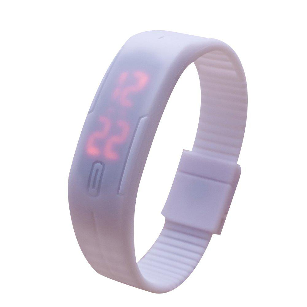 Universal Waterproof LED Sports Watch - WHITE