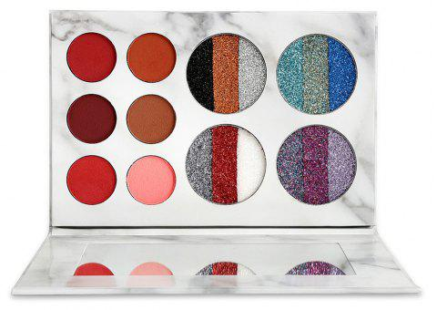Marble Shimmer Matte Make Up Palette Long-Lasting Pigment Makeup Eyeshadow Pallete - COLOUR