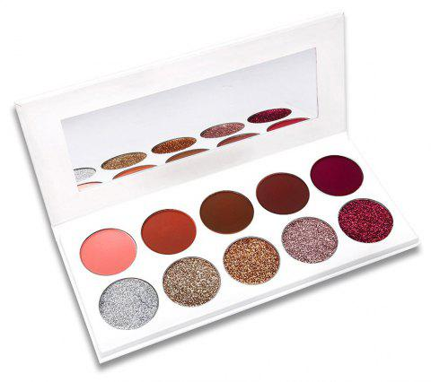 10 Color Powder Pink Pearl Matte Long-lasting Eye Shadow - COLOUR