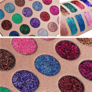 24 Colors Gold and Onion Powder Sequined Eyeshadow - COLOUR