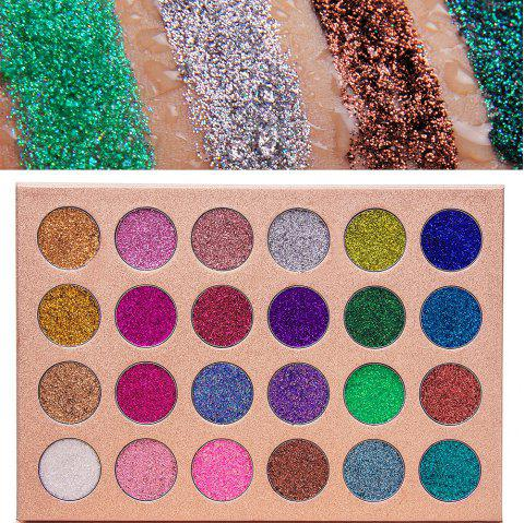 24 Colors Glitter Eyeshadow - COLOUR