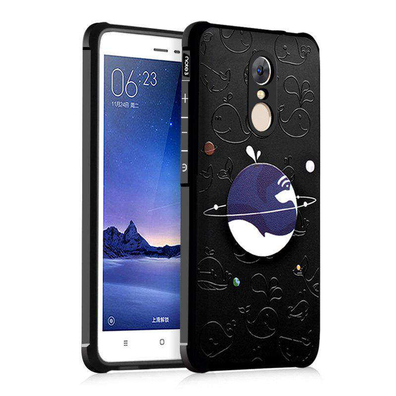 Blue Whale Universe Ultra Slim TPU Shockproof Black Silicone Soft Back Case for Xiaomi Redmi Note 4 - BLACK