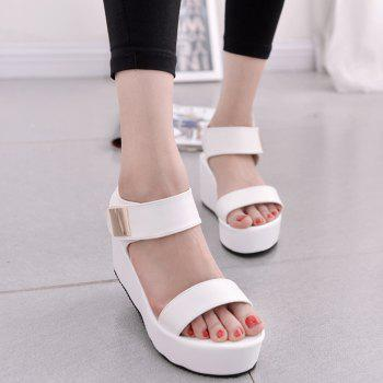 Ladies Summer Sandals Fashion Thick Bottom Shoes for Girls - WHITE 39