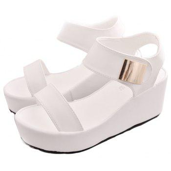 Ladies Summer Sandals Fashion Thick Bottom Shoes for Girls - WHITE 36