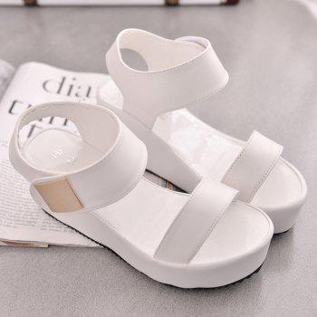 Ladies Summer Sandals Fashion Thick Bottom Shoes for Girls - WHITE 38
