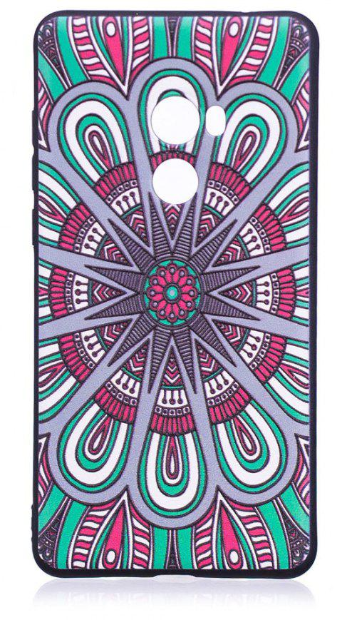 Relief Silicone Case for Xiaomi Mix 2 Mandala Pattern Soft TPU Protective Back Cover - COLOUR
