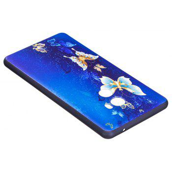 Relief Silicone Case for Xiaomi Mix 2 Golden Butterfly Pattern Soft TPU Protective Back Cover - BLUE