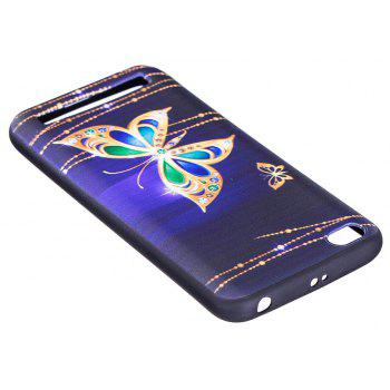 Relief Silicone Case for Xiaomi Redmi 5A Large Butterfly Pattern Soft TPU Protective Back Cover - PURPLE