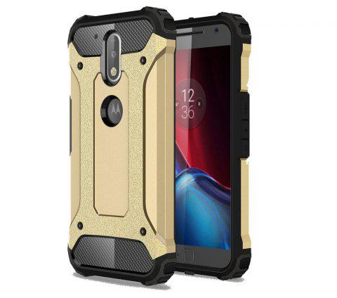 Hockproof Protective Cover for Motorola Moto G4 / G4 Plus Armor Hard Mobile Phone Cases - GOLDEN
