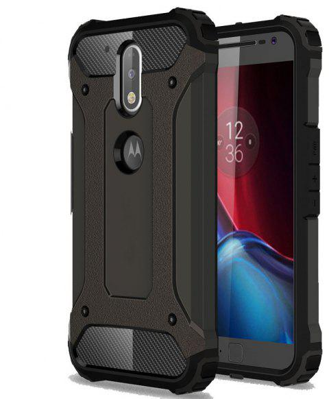 Hockproof Protective Cover for Motorola Moto G4 / G4 Plus Armor Hard Mobile Phone Cases - BLACK