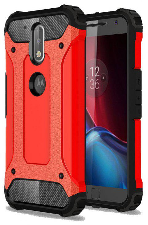 Hockproof Protective Cover for Motorola Moto G4 / G4 Plus Armor Hard Mobile Phone Cases - RED