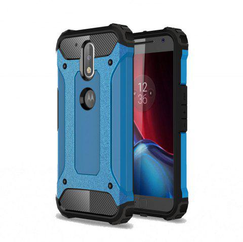 Hockproof Protective Cover for Motorola Moto G4 / G4 Plus Armor Hard Mobile Phone Cases - BLUE