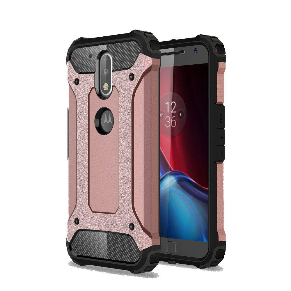 Hockproof Protective Cover for Motorola Moto G4 / G4 Plus Armor Hard Mobile Phone Cases - ROSE GOLD