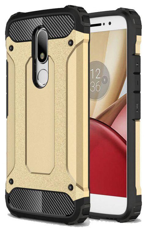 Hockproof Protective Cover for Motorola Moto M Armor Hard Mobile Phone Cases - GOLDEN