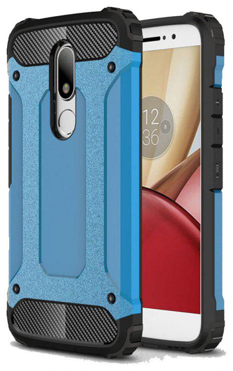 Hockproof Protective Cover for Motorola Moto M Armor Hard Mobile Phone Cases - BLUE