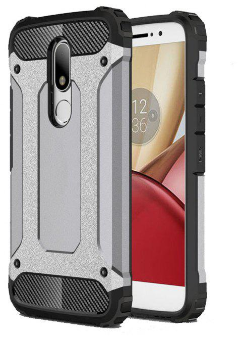 Hockproof Protective Cover for Motorola Moto M Armor Hard Mobile Phone Cases - GRAY