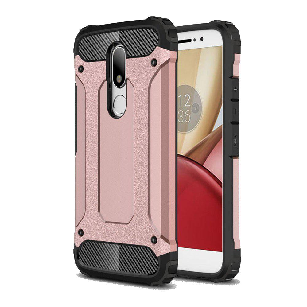 Hockproof Protective Cover for Motorola Moto M Armor Hard Mobile Phone Cases - ROSE GOLD
