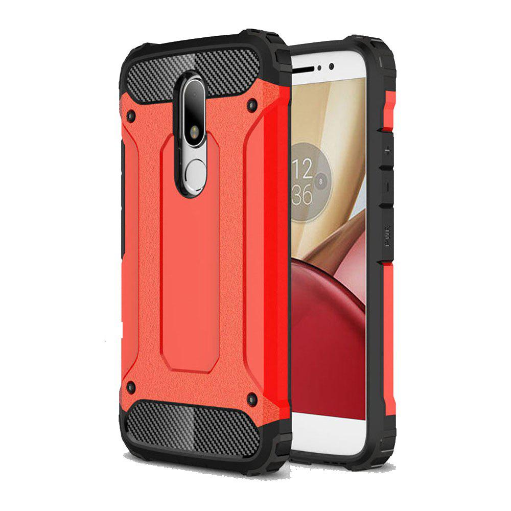 Hockproof Protective Cover for Motorola Moto M Armor Hard Mobile Phone Cases - RED