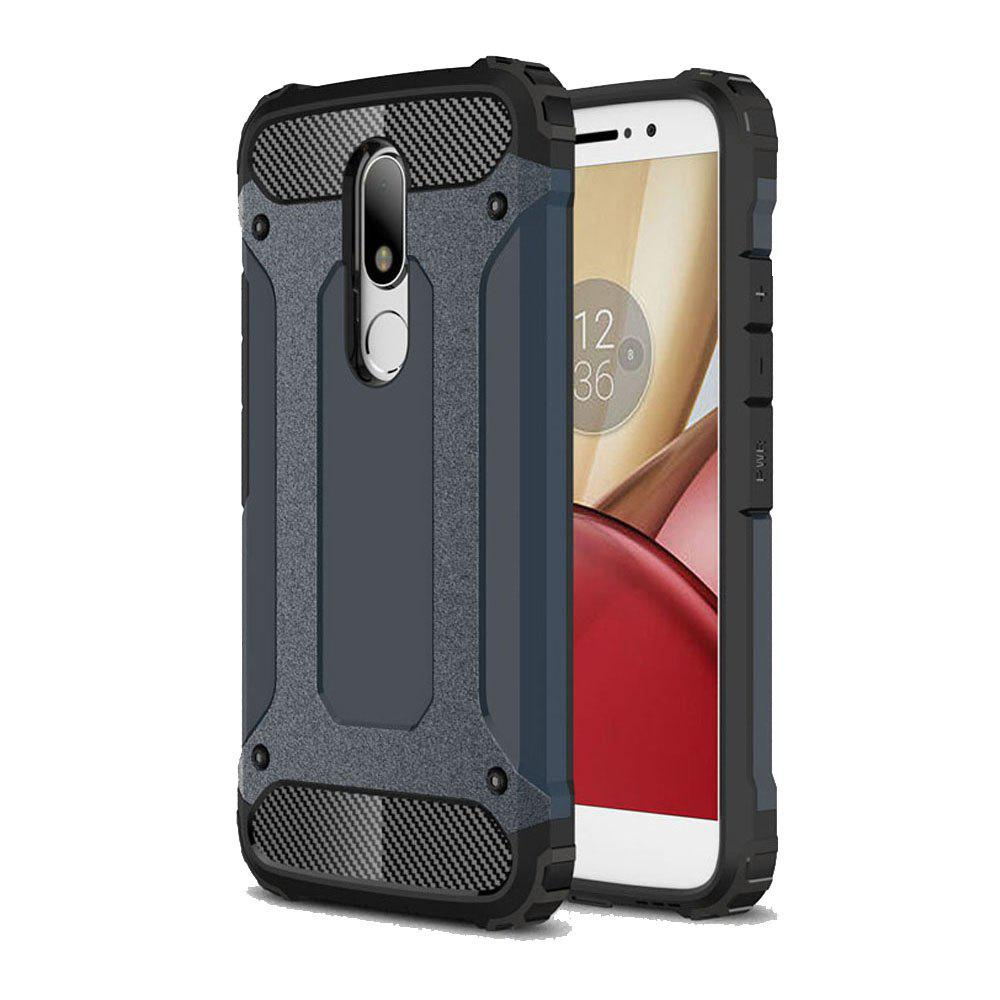 Hockproof Protective Cover for Motorola Moto M Armor Hard Mobile Phone Cases - NAVY