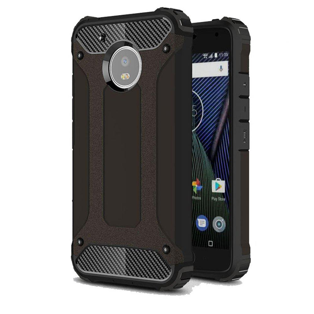 Hockproof Protective Cover for Motorola Moto G5 Armor Hard Mobile Phone Cases - BLACK