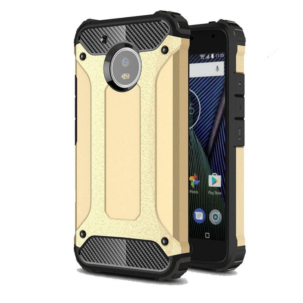 Hockproof Protective Cover for Motorola Moto G5 Armor Hard Mobile Phone Cases - GOLDEN