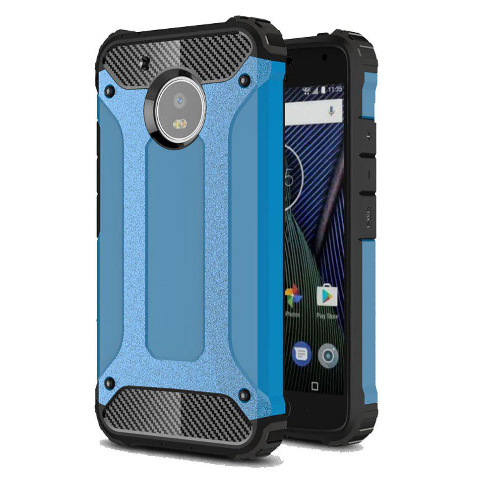 Hockproof Protective Cover for Motorola Moto G5 Armor Hard Mobile Phone Cases - BLUE