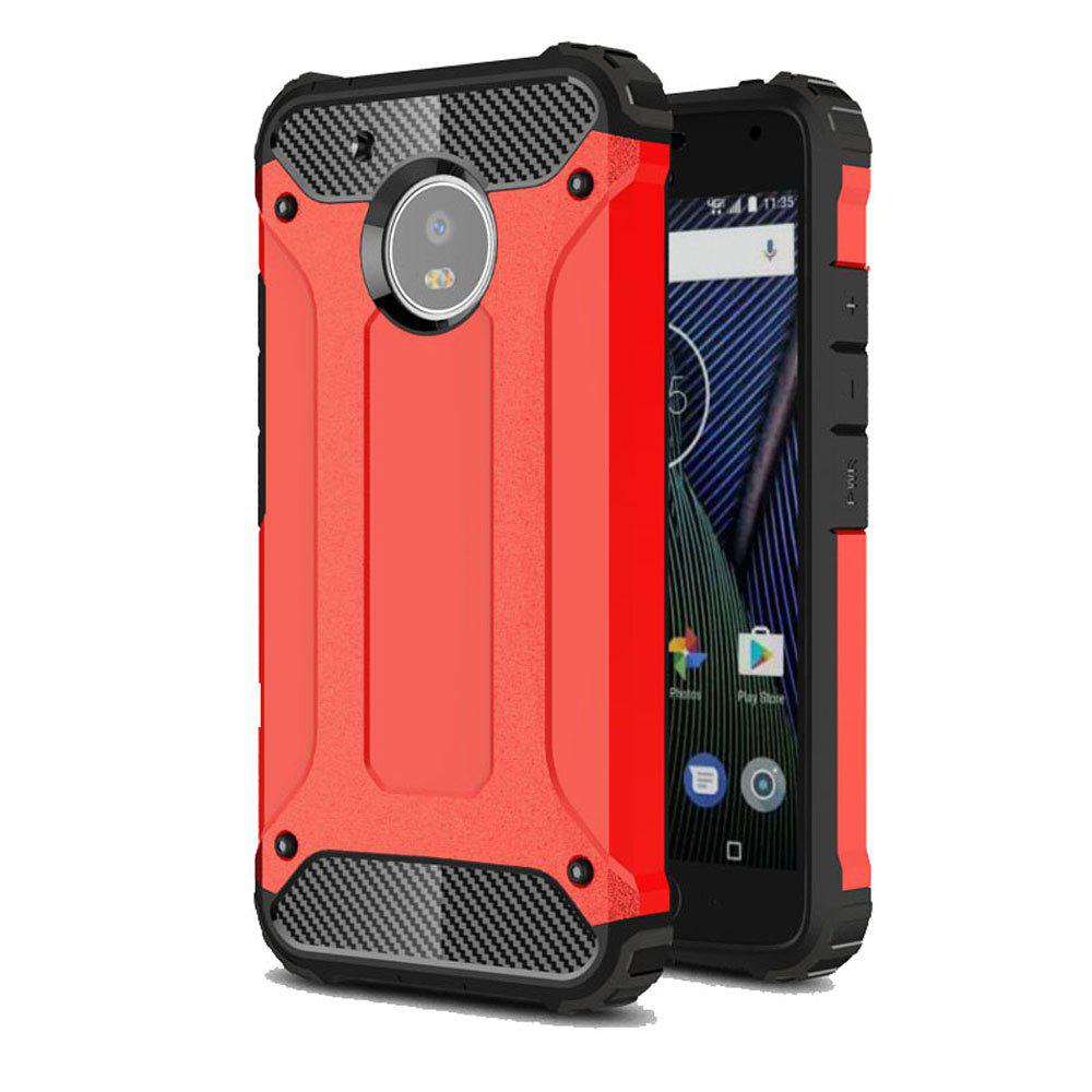 Hockproof Protective Cover for Motorola Moto G5 Armor Hard Mobile Phone Cases - RED