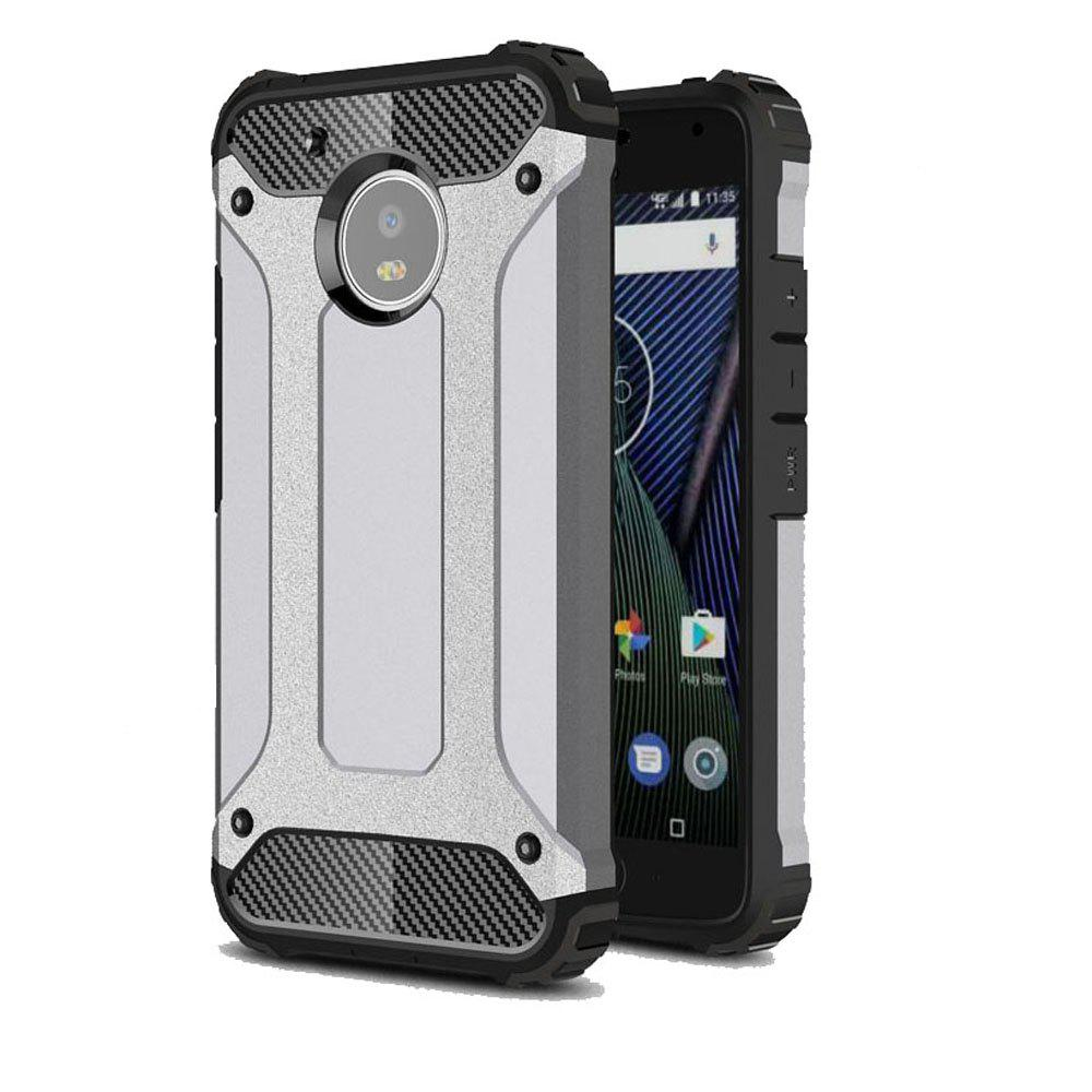 Hockproof Protective Cover for Motorola Moto G5 Armor Hard Mobile Phone Cases - GRAY
