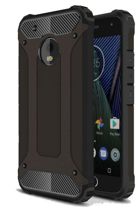 Hockproof Protective Cover for Motorola Moto G5 Plus Armor Hard Mobile Phone Cases - BLACK