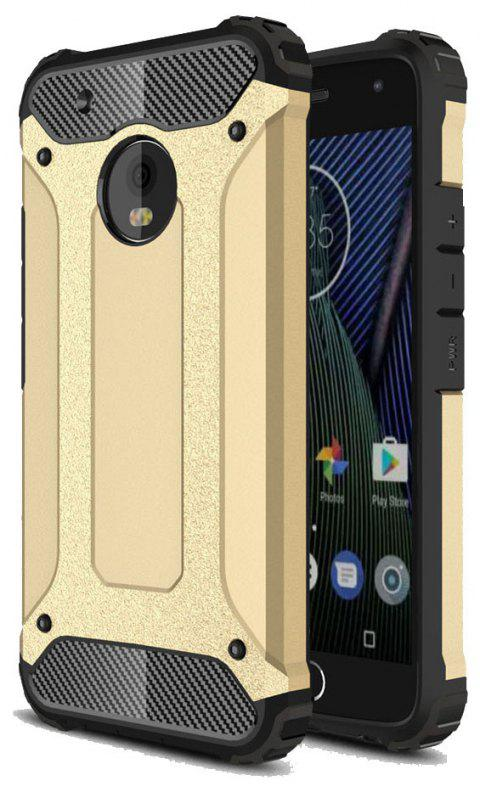 Hockproof Protective Cover for Motorola Moto G5 Plus Armor Hard Mobile Phone Cases - GOLDEN