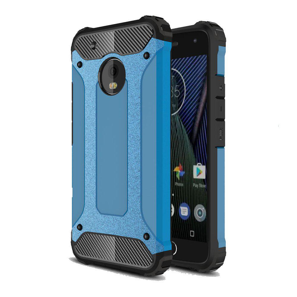 Hockproof Protective Cover for Motorola Moto G5 Plus Armor Hard Mobile Phone Cases - BLUE