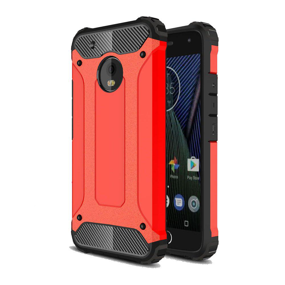 Hockproof Protective Cover for Motorola Moto G5 Plus Armor Hard Mobile Phone Cases - RED