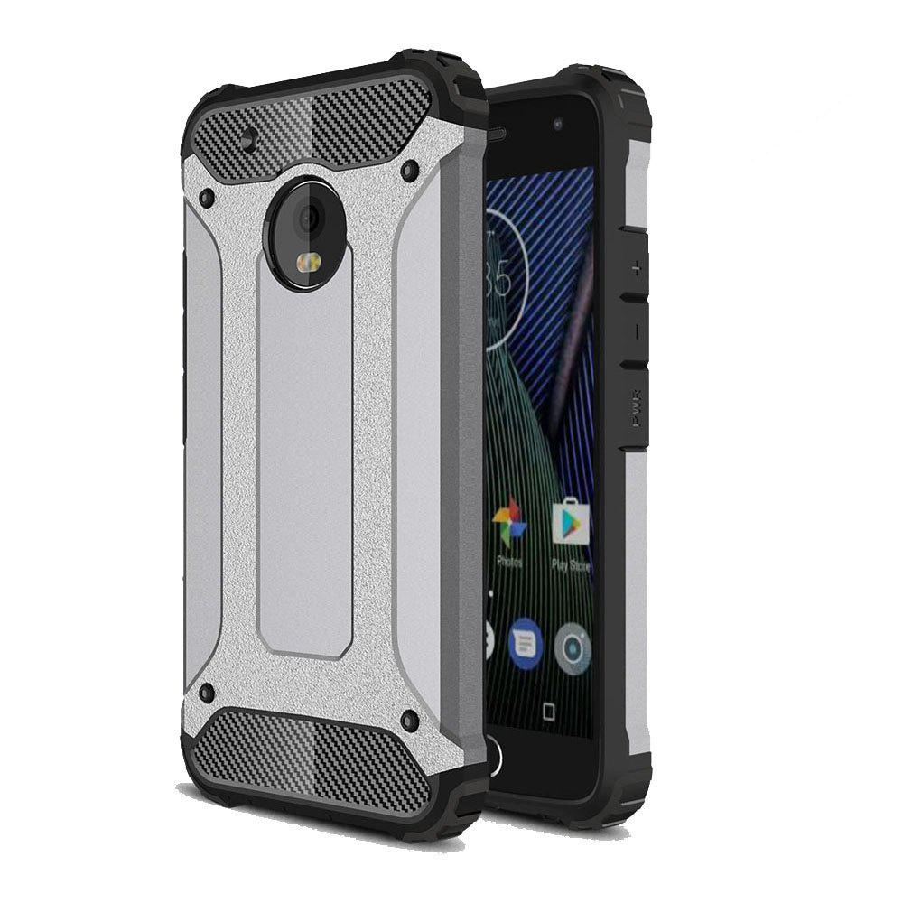 Hockproof Protective Cover for Motorola Moto G5 Plus Armor Hard Mobile Phone Cases - GRAY