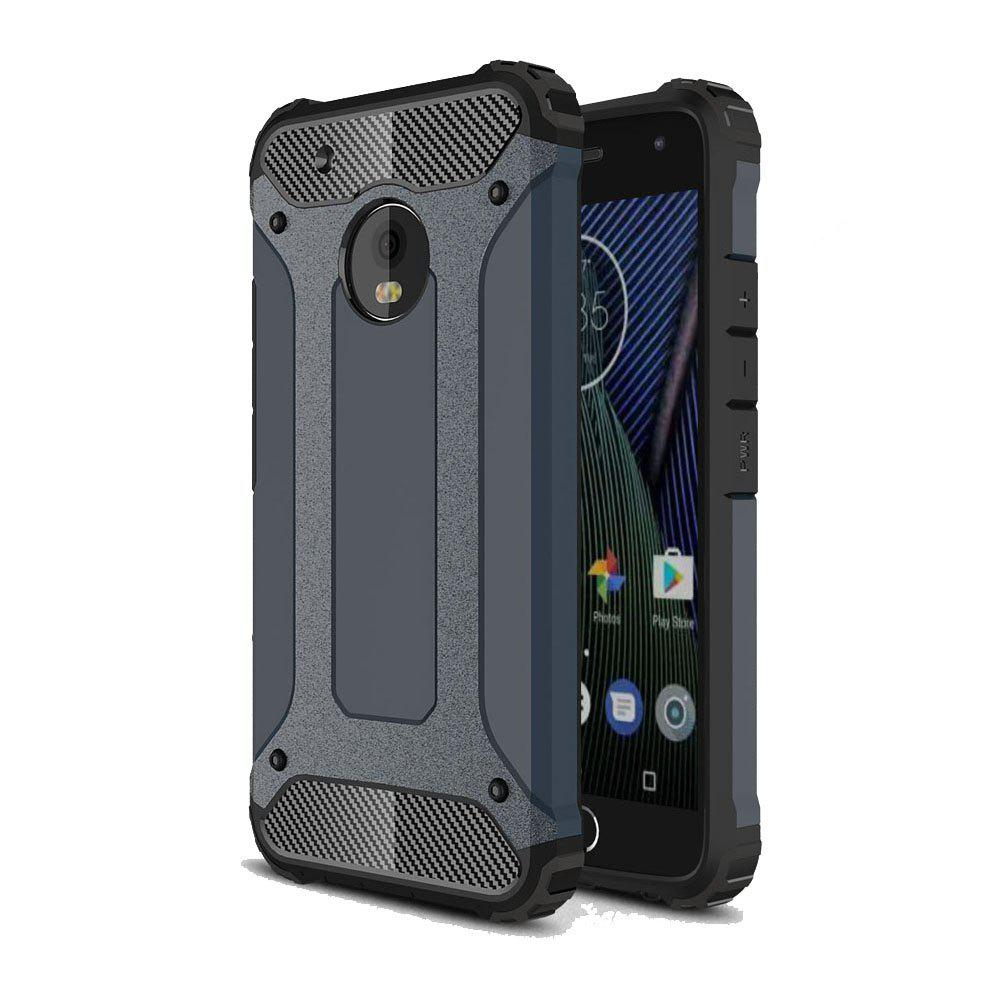 Hockproof Protective Cover for Motorola Moto G5 Plus Armor Hard Mobile Phone Cases - NAVY