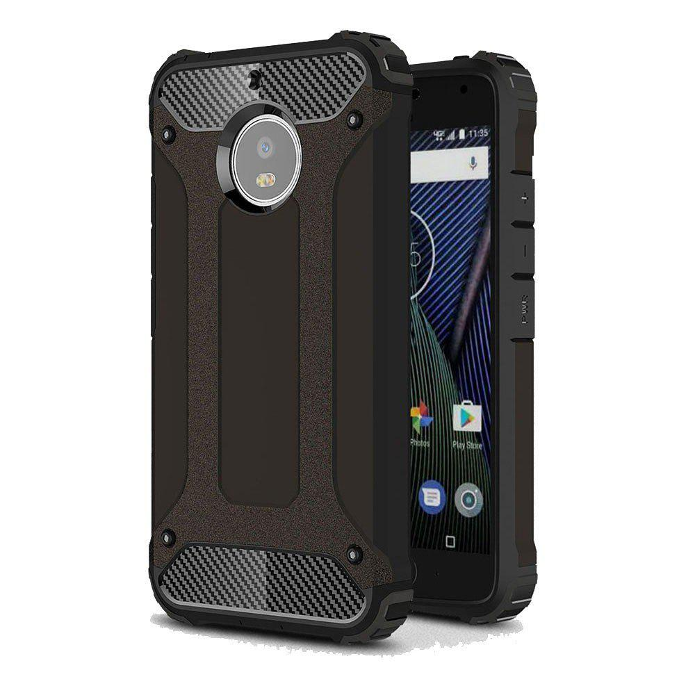 Hockproof Protective Cover for Motorola Moto G5S Armor Hard Mobile Phone Cases - BLACK